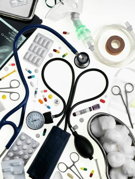 Medical Image Photograph - Medical Equipment And Drugs by Tek Image/science Photo Library