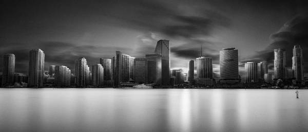 Florida Wall Art - Photograph - Miami Skyline by Fred Gramoso