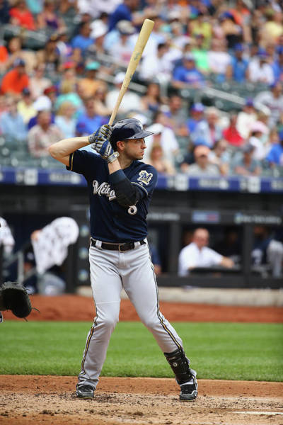 Photograph - Milwaukee Brewers V New York Mets by Al Bello