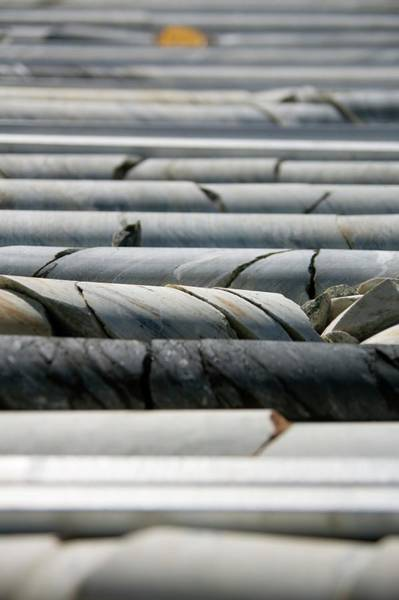 Coring Photograph - Mining Core Samples by Phil Hill/science Photo Library