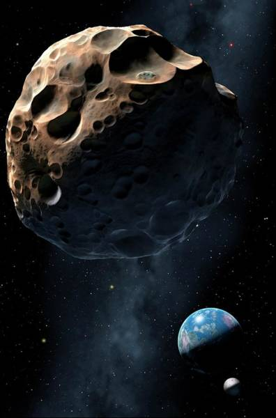 Near Earth Object Photograph - Near-earth Asteroid by Mark Garlick/science Photo Library