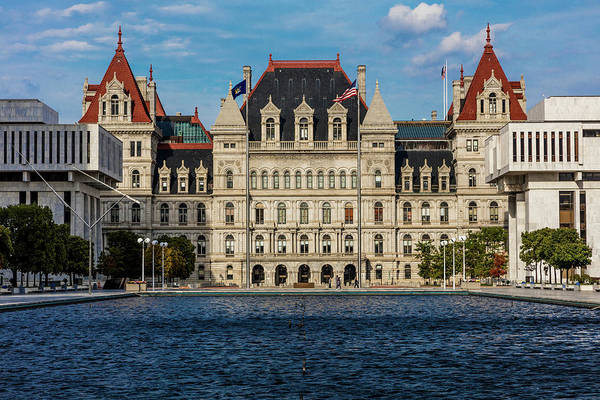 Albany Photograph - New York, Albany, New York State Capitol by Panoramic Images
