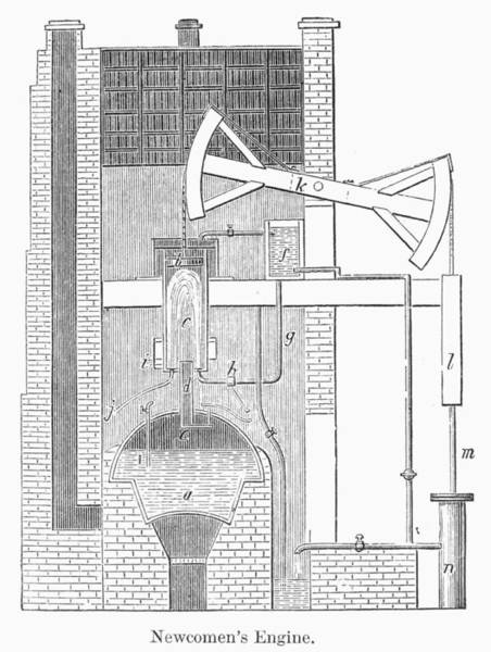 Wall Art - Photograph - Newcomens Steam Engine by Granger