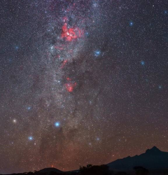 Amboseli Wall Art - Photograph - Night Sky Over Mount Kilimanjaro by Babak Tafreshi