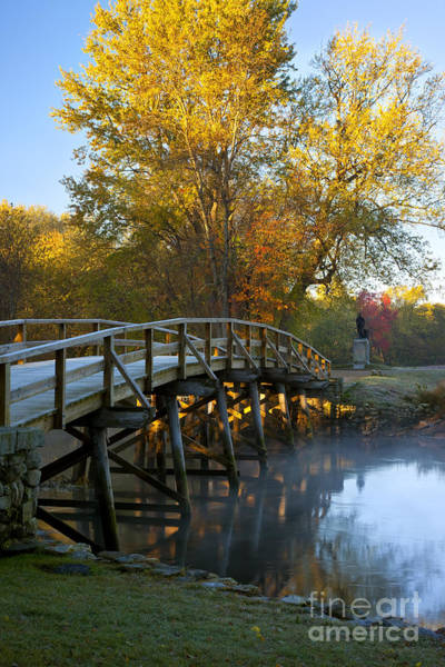 Liberty Bridge Photograph - Old North Bridge Concord by Brian Jannsen