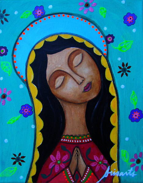 Wall Art - Painting - Our Lady Of Guadalupe by Pristine Cartera Turkus