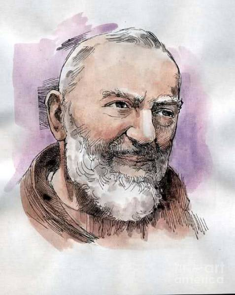 Padre Pio Wall Art - Drawing - Padre Pio by Archangelus Gallery