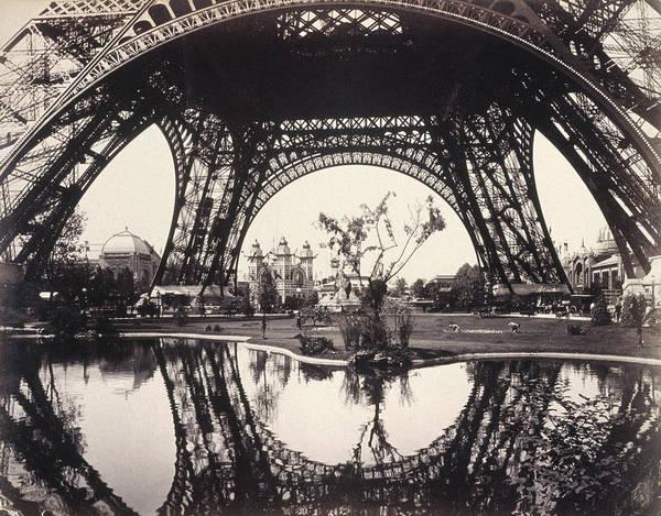Fair Ground Photograph - Paris Eiffel Tower, 1889 by Granger