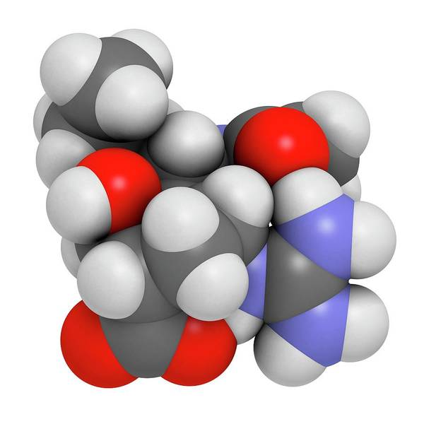 Peramivir Influenza Drug Molecule Art Print