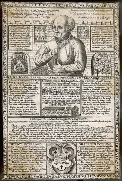 Wall Art - Drawing - Philippus Aureolus  Theophrastus by Mary Evans Picture Library