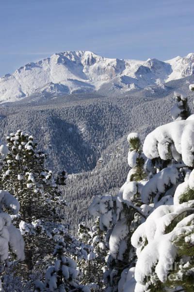 Photograph - Pikes Peak Snow by Steve Krull