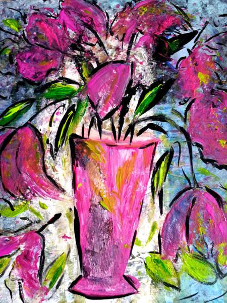 Painting - Pink Tulips by Nikki Dalton