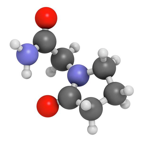 Ampa Wall Art - Photograph - Piracetam Nootropic Drug Molecule by Molekuul