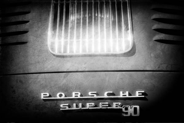 Photograph - Porsche Super 90 Tail Emblem by Jill Reger
