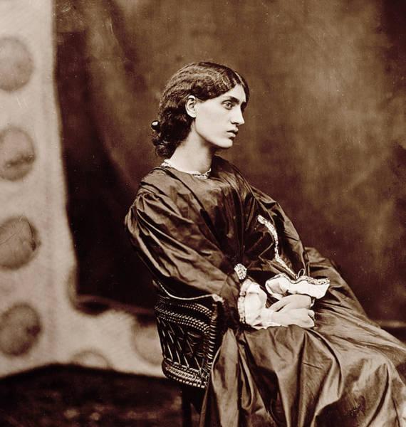 Wicker Chair Photograph - Portrait Of Jane Morris by John Parsons