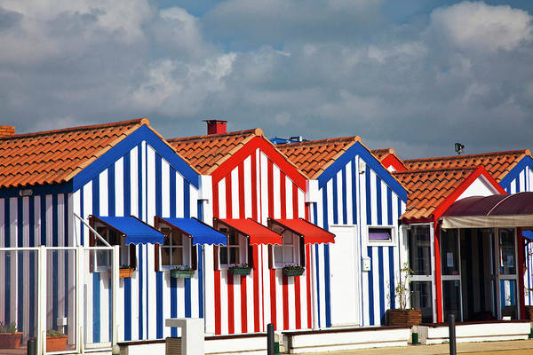 Nova Photograph - Portugal, Costa Nova, Candy-striped by Terry Eggers
