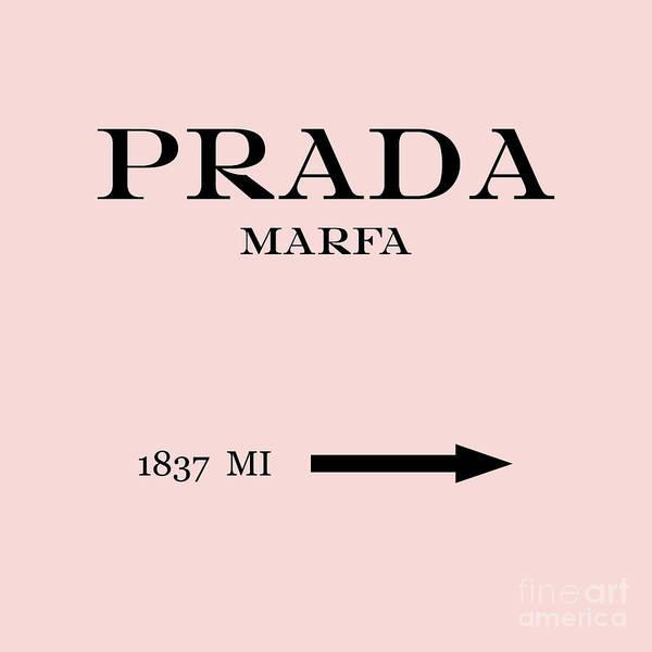 Prada Digital Art - Prada Marfa Mileage Distance by Edit Voros