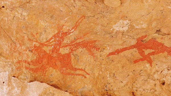 Wall Art - Photograph - Prehistoric Rock Paintings by Thierry Berrod, Mona Lisa Production