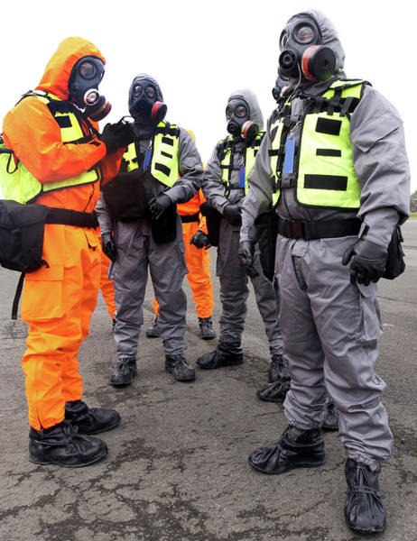 Nbc Photograph - Radiation Emergency Response Workers by Public Health England