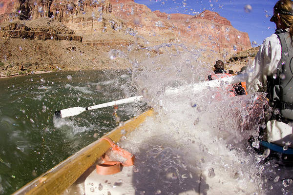 Raft Wall Art - Photograph - Rafting The Grand Canyon. Grand Canyon by Justin Bailie