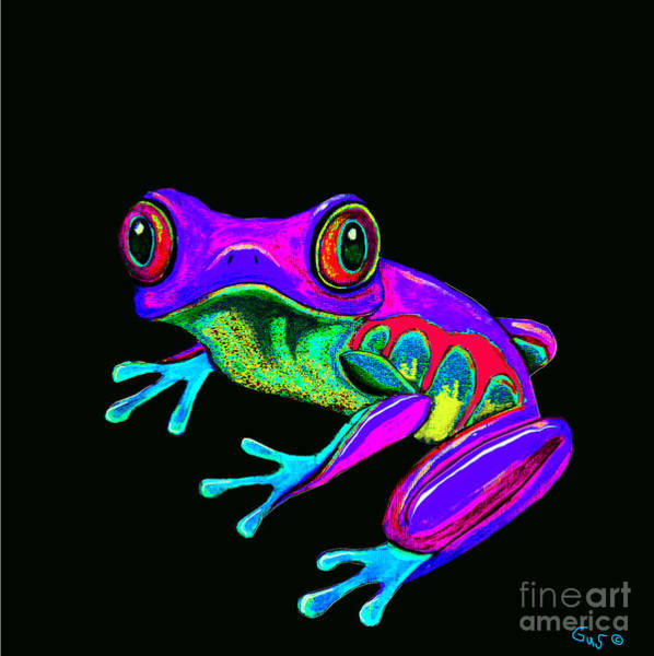 Wall Art - Painting - Rainbow Frog by Nick Gustafson