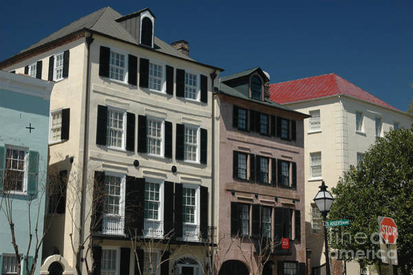 Photograph - Thirteen Colorful Historic Houses In Charleston by Dale Powell