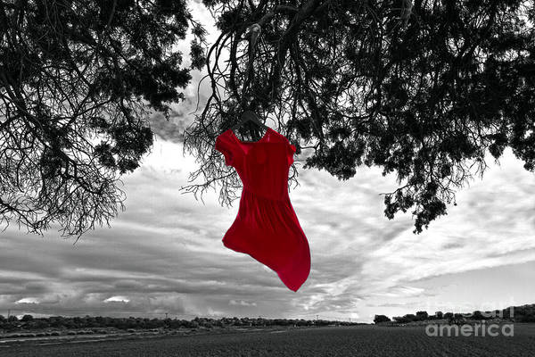 Dress Shop Photograph - Red Is My Color by Stelios Kleanthous