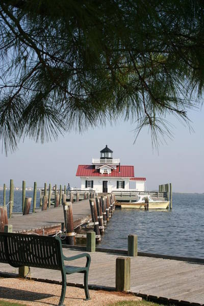 Roanoke Marshes Light Wall Art - Photograph - Roanoke Marshes Lighthouse by Christiane Schulze Art And Photography