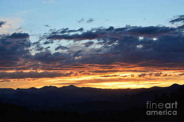 Art Print featuring the photograph Rocky Mountain Sunset by Kate Avery