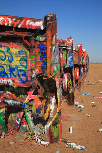 Photograph - Route 66 - Cadillac Ranch by Frank Romeo