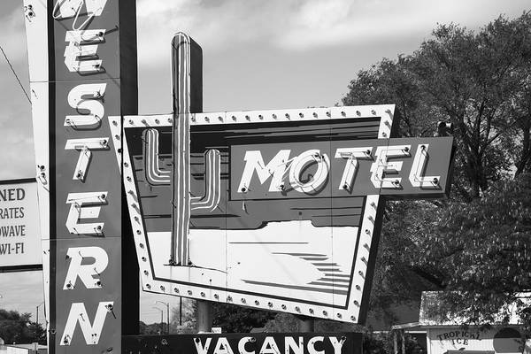 Photograph - Route 66 - Western Motel by Frank Romeo