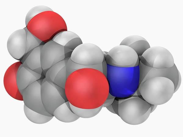 Short Cut Photograph - Salbutamol Drug Molecule by Laguna Design/science Photo Library