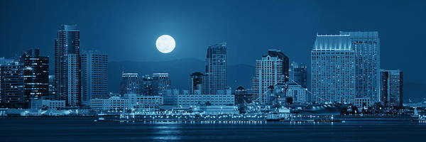 Photograph - San Diego Downtown Skyline by Songquan Deng