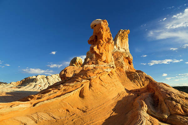 Vermilion Cliffs National Monument Wall Art - Photograph - Sandstone Formations At The White by Chuck Haney