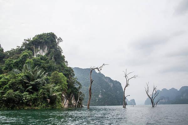 Scene On Chieow Laan Lake, Khoa Sok Art Print