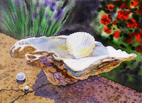Painting - Sea Shell And Pearls Morning Light by Irina Sztukowski