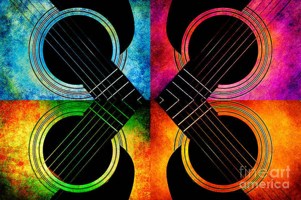 Photograph - 4 Seasons Guitars Abstract by Andee Design