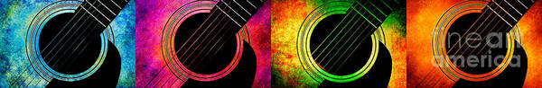Photograph - 4 Seasons Guitars Panorama by Andee Design