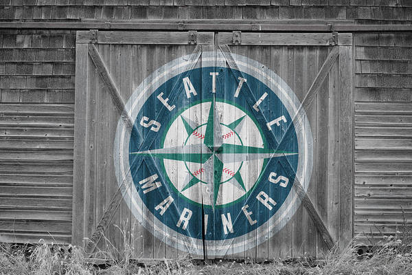 Outfield Wall Art - Photograph - Seattle Mariners by Joe Hamilton