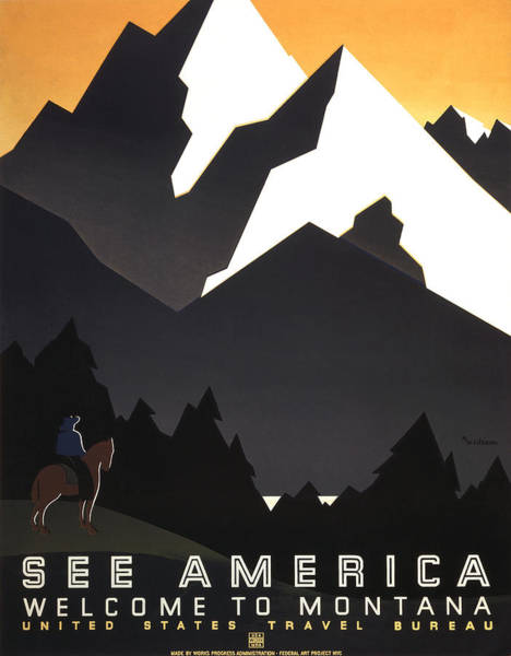 Photograph - See America Poster, C1937 by Granger