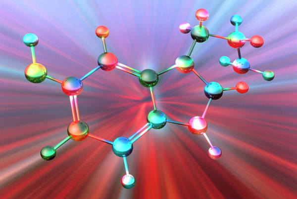 Neurotransmitter Wall Art - Photograph - Serotonin Molecule by Alfred Pasieka/science Photo Library
