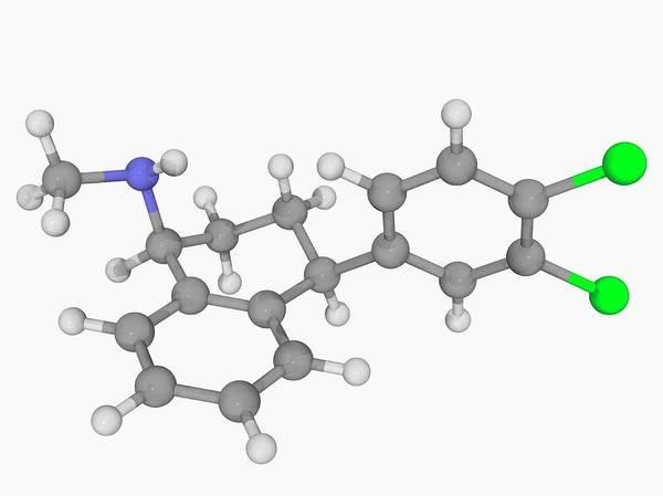 Wall Art - Photograph - Sertraline Drug Molecule by Laguna Design/science Photo Library
