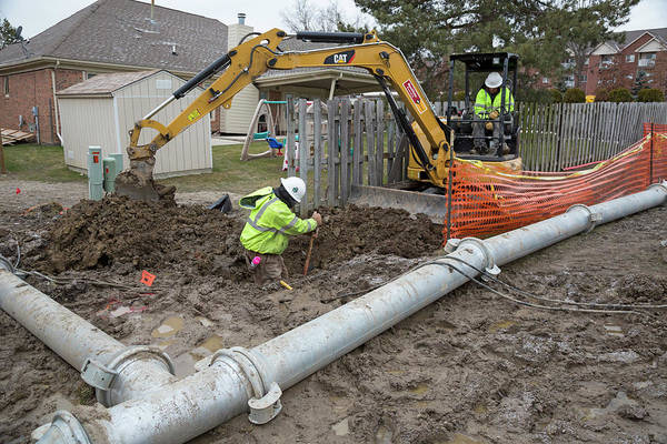 Metro Detroit Photograph - Sewer Collapse And Repair Works by Jim West/science Photo Library