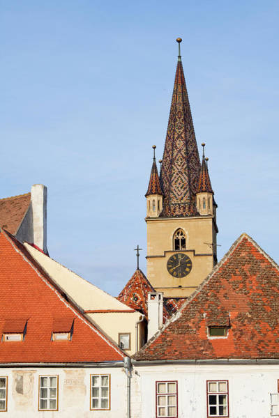 Edifice Photograph - Sibiu, Hermannstadt In Transylvania by Martin Zwick