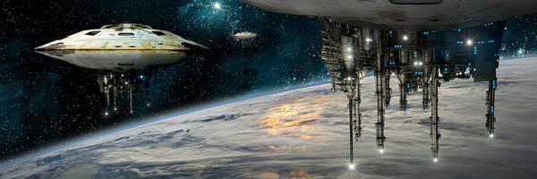 Wall Art - Photograph - Spaceships Invading Earth by Marc Ward