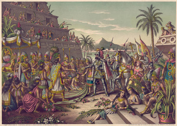 Wall Art - Painting - Spanish Conquest by Granger