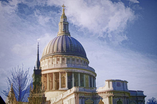 Photograph - Painted Effect - St Paul's Cathedral by Susan Leonard