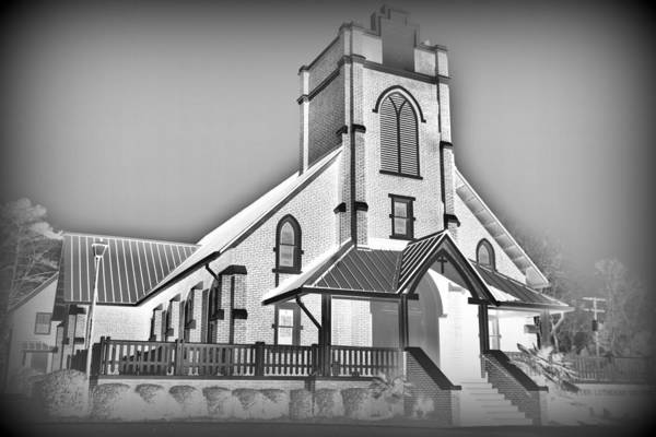 Photograph - St Peter Lutheran Church Chapin Sc Hdr 6 by Lisa Wooten