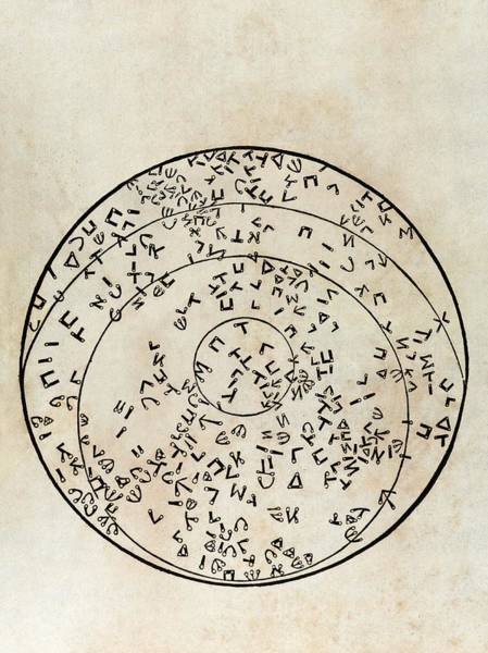 Hebrews Photograph - Star Map Using Hebrew Characters by Middle Temple Library