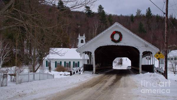 Photograph - Stark Covered Bridge.  by New England Photography
